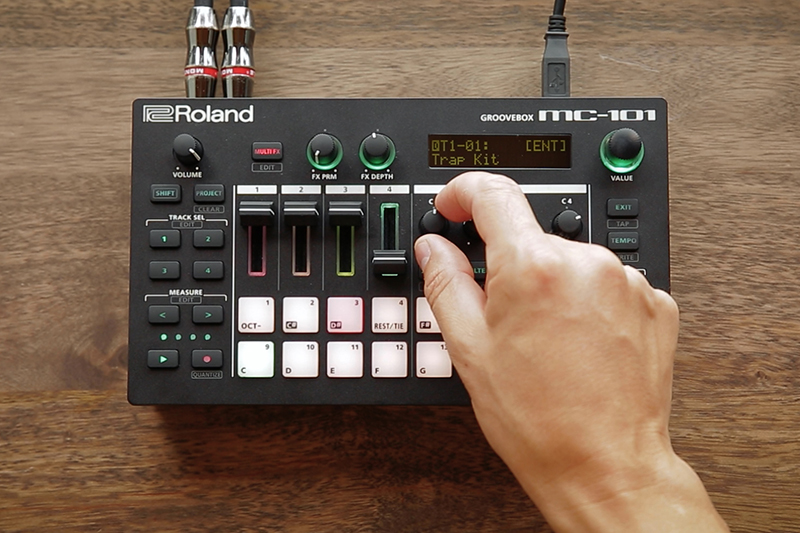 The small, yet powerful Roland MC-101